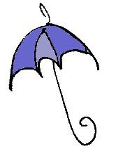 A BLUE UMBRELLA