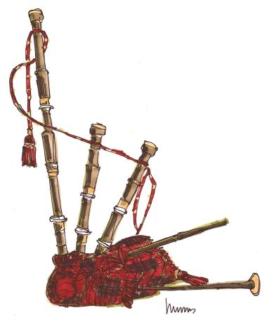 m wood bagpipe