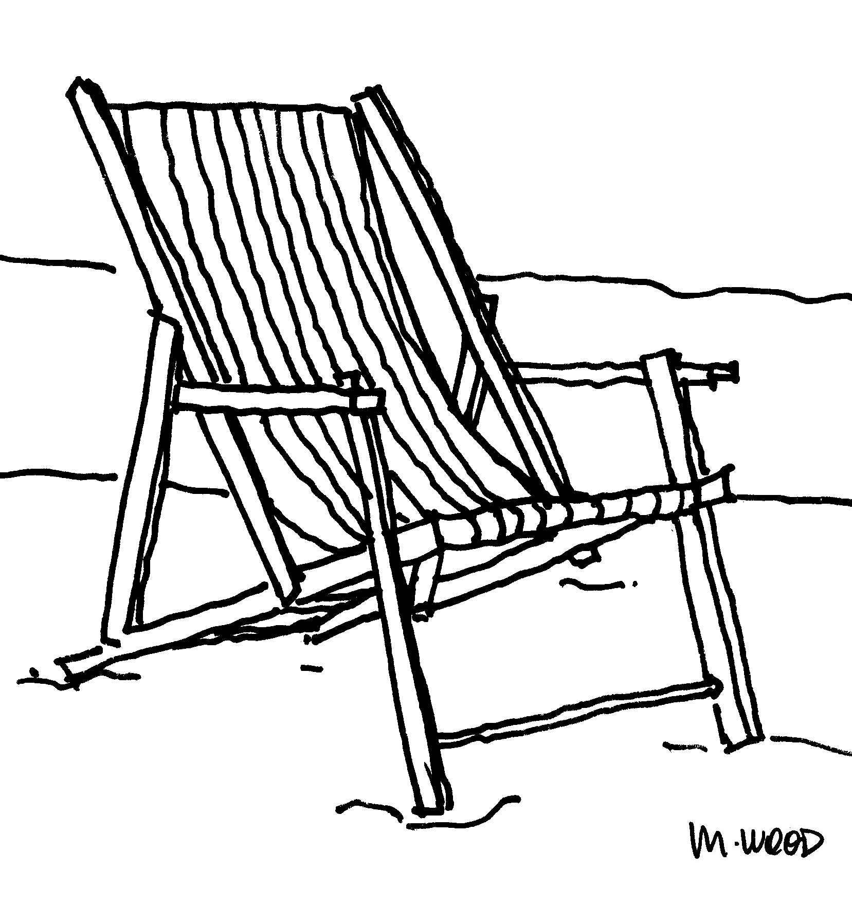 How To Draw A Beach Chair | www.pixshark.com - Images ...