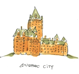 quebec city sketch
