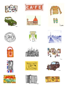 m wood travel sketches