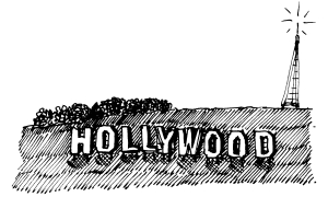 m wood hollywood sign