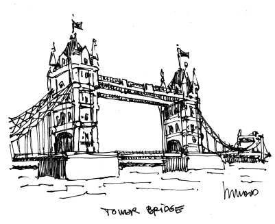 m wood tower bridge