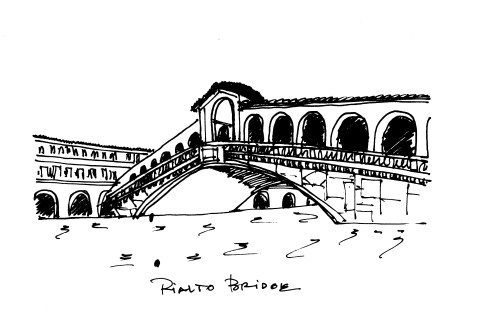 Rialto Bridge Florence @mwoodpen