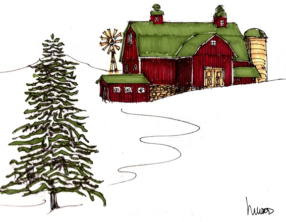 red barn @mwoodpen