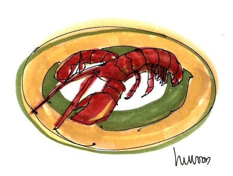 m wood lobster platter