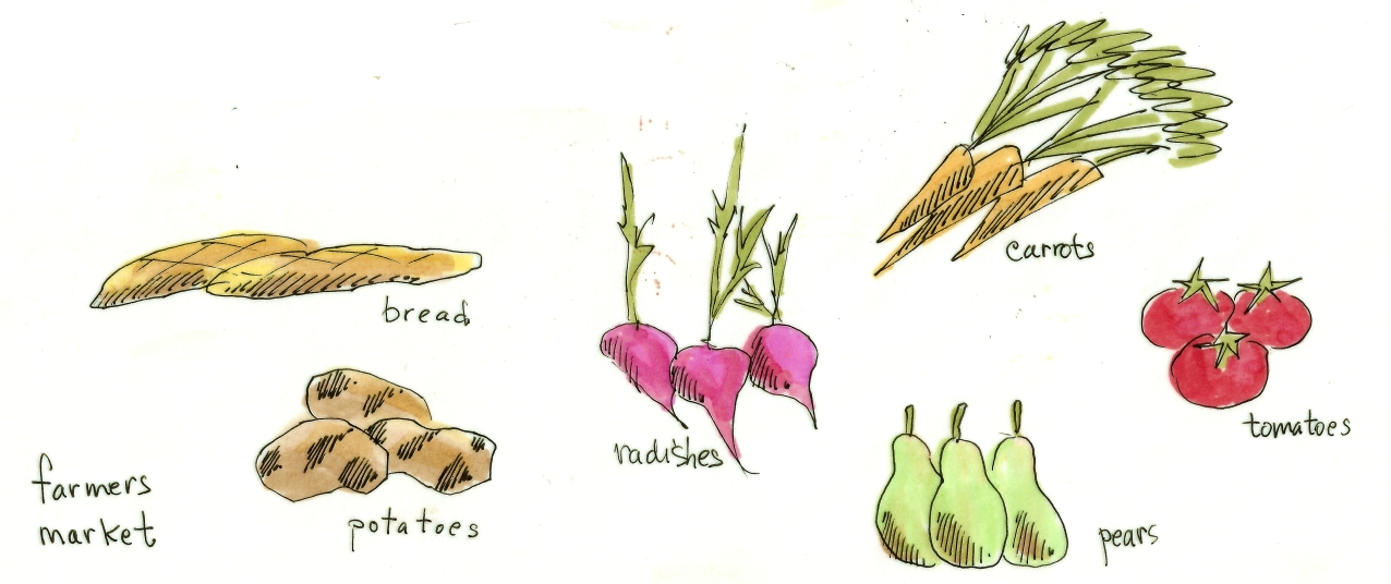 M WOOD NATURE SKETCH VEGGIES