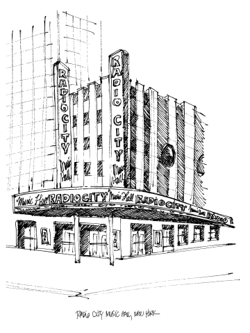 Radio City Music Hall @mwoodpen