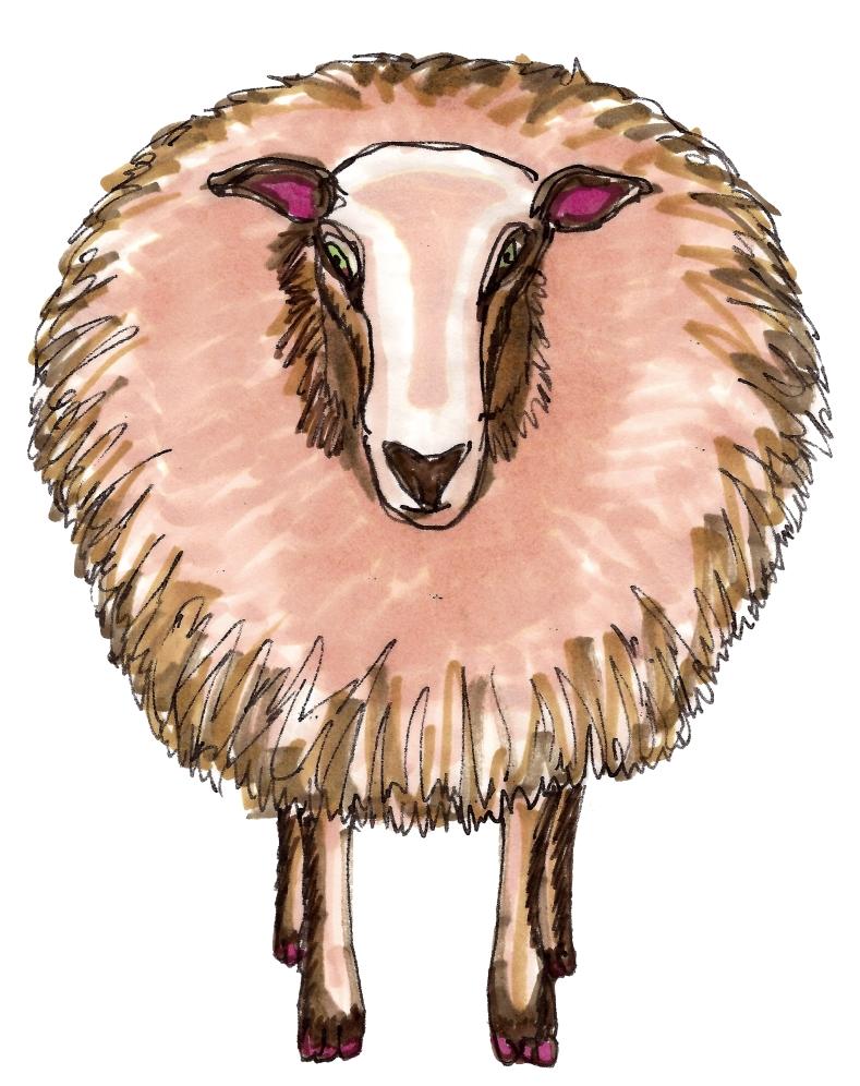 m wood sheep
