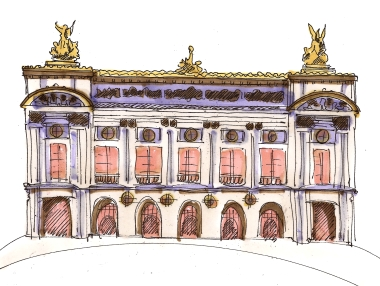 paris opera house color