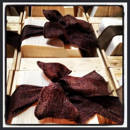 rustic burlap bows