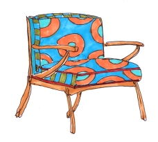 m wood miami lounge chair