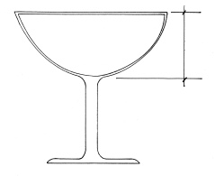 cocktail stemware coupe