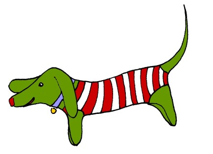 striped dachsund, m wood