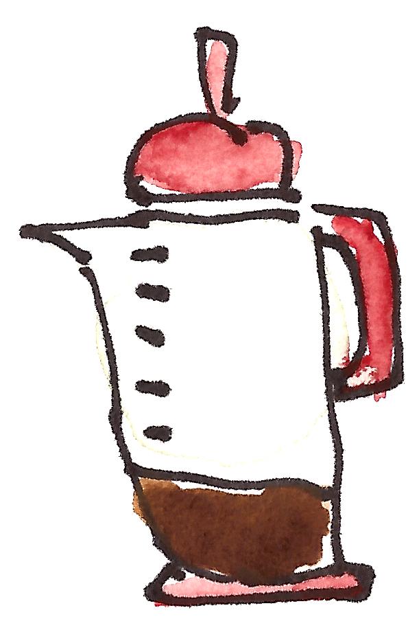 m wood coffee pot