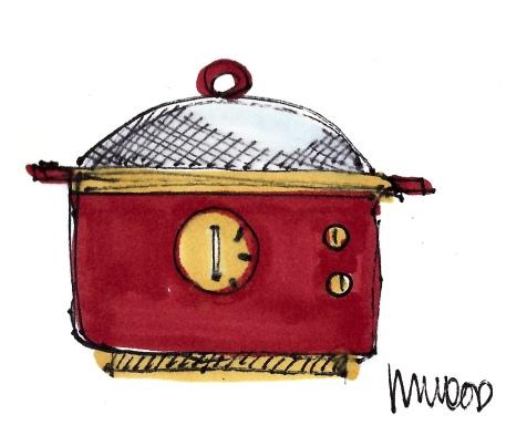 m wood crock pot