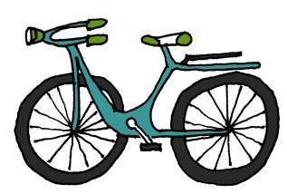 Blue Bike @mwoodpen