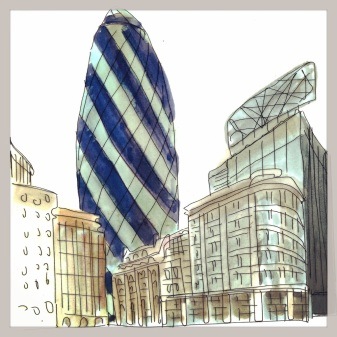 The Gherkin, Illustrated by M Wood