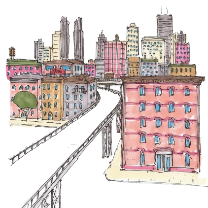 citysketch nyc high line color
