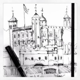 m wood white tower sketch