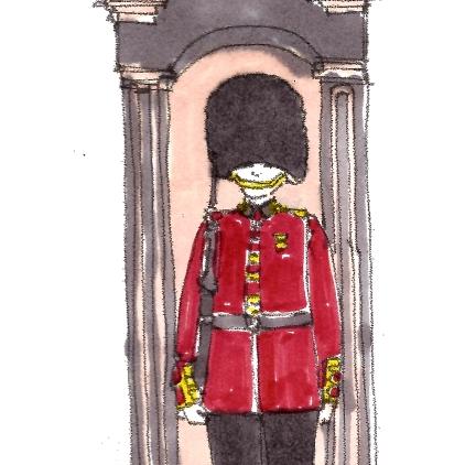 travel m wood color buckingham palace guard