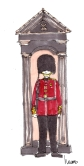 travel m wood color buckingham palace guard