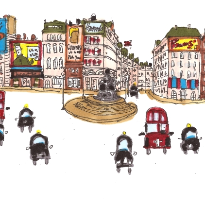 travel m wood piccadilly circus color