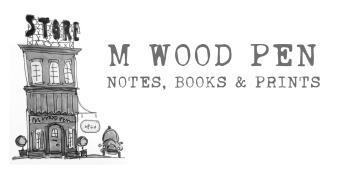 M WOOD PEN STORE notes, books & prints header