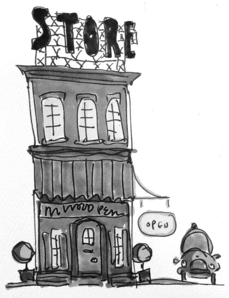 m wood store cartoon