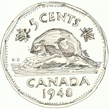 canada beaver coin