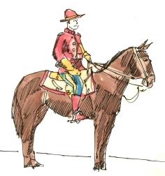 canada mounty & horse