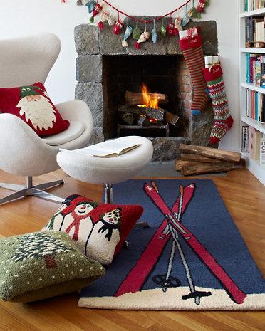 Attrayant Garnet Hill Ski Day Wool Rug
