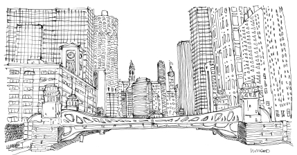 Chicago River @mwoodpen