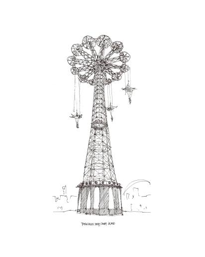 Coney Island Parachute Drop @mwoodpen