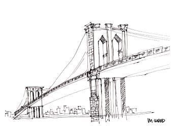 Brooklyn Bridge @mwoodpen