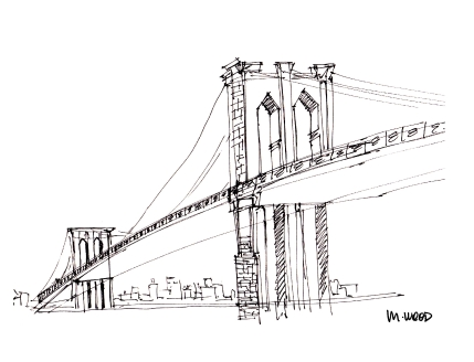 Brooklyn Bridge @mwoodpen