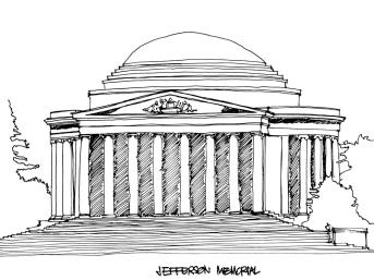Jefferson Memorial @mwoodpen
