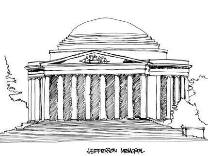 Jefferson Memorial @mwoodpen