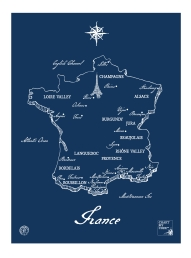 m wood france wine map chart my cork