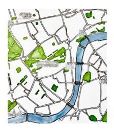 m wood london map