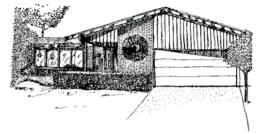 m wood moderne house