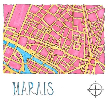 M WOOD PLOT A PARTY MARAIS MAP