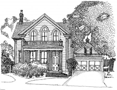 m wood victorian house