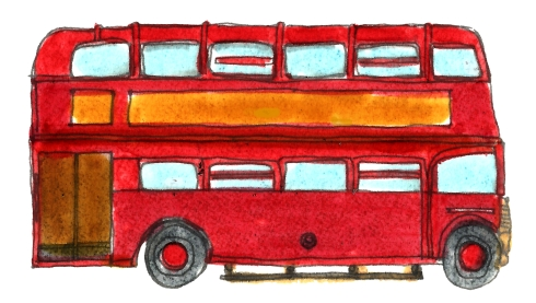 M WOOD DOUBLE DECKER BUS
