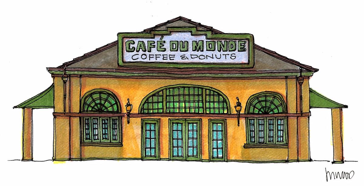 M WOOD CAFÉ DU MONDE