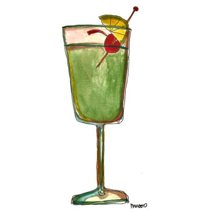 M WOOD COCKTAILS GRASSHOPPER