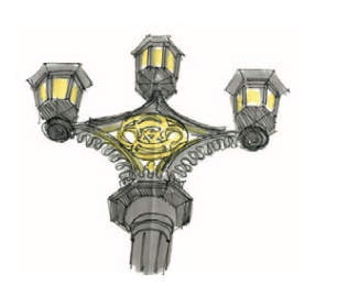 M WOOD LONDON STREET LAMP