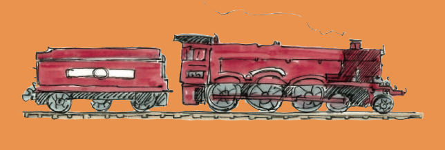 M WOOD LONDON TRAIN ENGINE