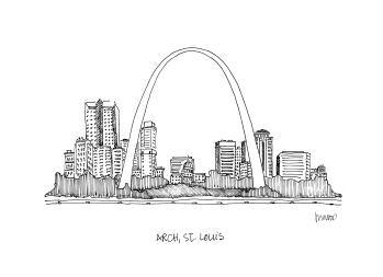 St. Louis Arch @mwoodpen