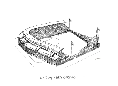 Wrigley Field @mwoodpen